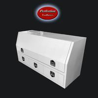 White powder coated toolbox with 3 drawers