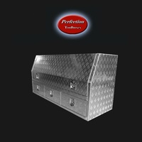 Aluminium toolbox 1700x600x850 with 3 drawers