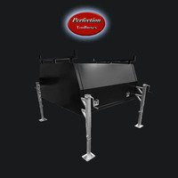 Black powder coated aluminium jack off canopy 1650x1770x860 with dual ladder racks